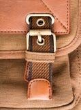 Boucle de sac à dos de Brown Photos libres de droits