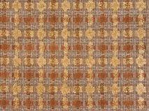 Boucle de tissu de couleurs brunes et jaunes Photographie stock libre de droits