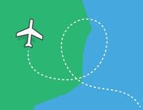 Boucle de traînée d'avion illustration libre de droits