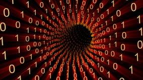 Boucle de trou de ver de données binaires illustration de vecteur