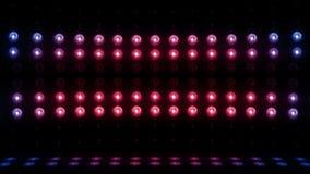 BOUCLE du balayage vertical 4K d'étape de l'ampoule 3d bleu-rouge banque de vidéos