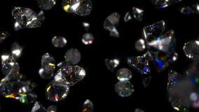 Boucle en baisse de fond de diamants banque de vidéos