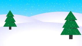 Boucle en baisse de neige de fond d'animation d'hiver illustration libre de droits