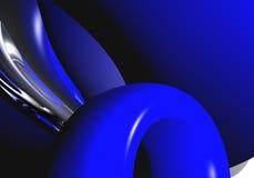 Boucle et fils bleus 01 illustration libre de droits