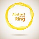 Boucle jaune abstraite de fumée illustration libre de droits