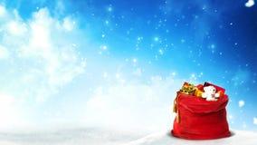 Boucle 4K en hausse de Santa Present Bag Glitter banque de vidéos