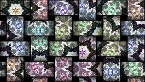 Boucle kaléïdoscopique de vj de mosaïque banque de vidéos
