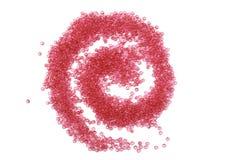 Boucle lumineuse de perles en verre Images libres de droits