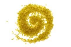 Boucle lumineuse de perles en verre Image stock