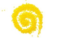 Boucle lumineuse de perles en verre Images stock