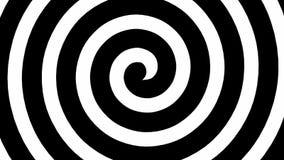 Boucle noire et blanche de spirale d'hypnose illustration libre de droits