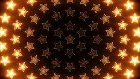 Boucle orange radiale brillante d'étoiles clips vidéos
