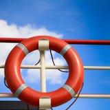 Boucle rouge de sauvetage Photo libre de droits