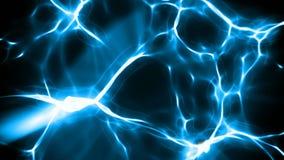 Boucle sans couture énergie d'abrégé sur de fond bleu de mouvement banque de vidéos