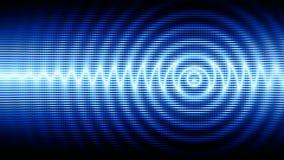 Boucle sans couture de fond abstrait de pointe bleu de mouvement banque de vidéos