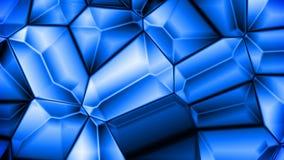 Boucle sans couture de fond cristallin bleu de mouvement banque de vidéos