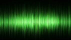 Boucle sans couture de fond vert de forme d'onde banque de vidéos