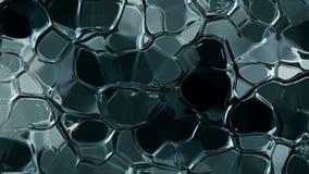 Boucle sans couture de fonte abstraite de fond de glace banque de vidéos
