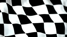 Boucle sans couture de plan rapproché de drapeau de finition de mouvement lent
