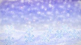 Boucle snowfalling blanche de fond - th?me d'hiver banque de vidéos