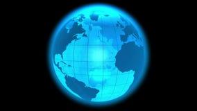 Boucle tournante de globe de la terre