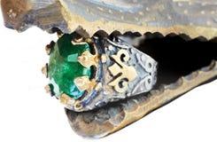Boucle turque de tabouret avec l'émeraude Photographie stock