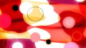 Boucle visuelle abstraite colorée @60fps de fond du Bodega 4k illustration libre de droits