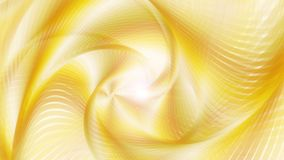 Boucle visuelle comme un tunnel abstraite @60fps de fond de l'or 4k de Swirly illustration de vecteur