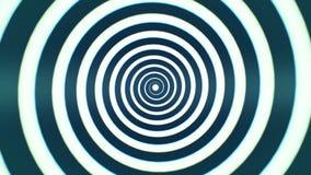 Boucle visuelle de fond de la spirale 1 de //1080p de méditation hypnotique d'hypnose clips vidéos