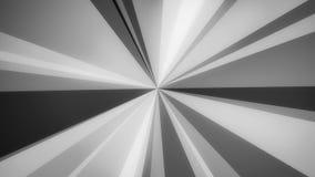 Boucle visuelle de texture de //4k 60fps de gris d'Arba de fond symétrique de mouvement illustration de vecteur