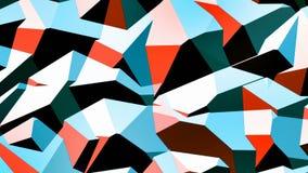 Boucle visuelle géométrique élégante de fond de Walter //4k 60fps illustration de vecteur