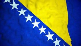 Boucle visuelle sans couture de drapeau bosnien banque de vidéos