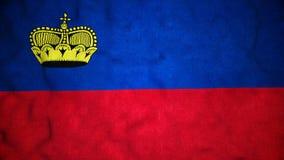 Boucle visuelle sans couture de drapeau de Liechtensteinian banque de vidéos