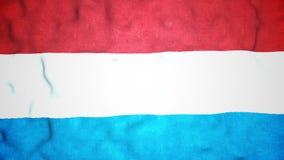 Boucle visuelle sans couture de drapeau de Luxembourgeois banque de vidéos