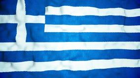 Boucle visuelle sans couture de drapeau grec banque de vidéos