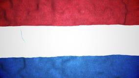 Boucle visuelle sans couture de drapeau néerlandais banque de vidéos