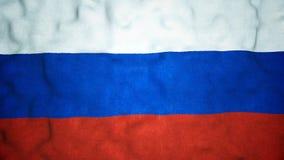 Boucle visuelle sans couture de drapeau russe banque de vidéos