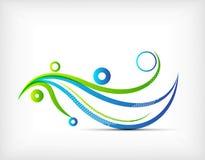 Boucles abstraites colorées de vecteur de vague. Onde lumineuse Image libre de droits