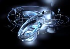 Boucles bleues dans l'espace (abstrait) Photographie stock libre de droits