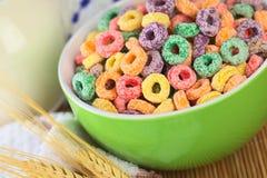 Boucles colorées de céréale Photos libres de droits
