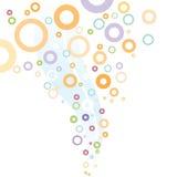 Boucles d'Abstrac et beaux cercles de colorfull Photos libres de droits