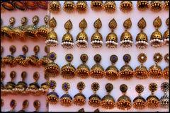 Boucles d'oreille d'or Image stock