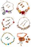 Boucles d'oreille avec le collier Photographie stock libre de droits