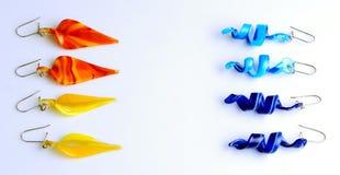 Boucles d'oreille colorées photos libres de droits