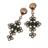 Boucles d'oreille croisées de bijoux Image stock