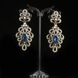 Boucles d'oreille de bijoux avec des gemmes Image stock