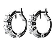 Boucles d'oreille de diamant Image stock