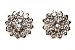 Boucles d'oreille de diamant Images stock