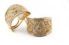 Boucles d'oreille de diamant Photo libre de droits
