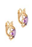 Boucles d'oreille de diamant Photo stock